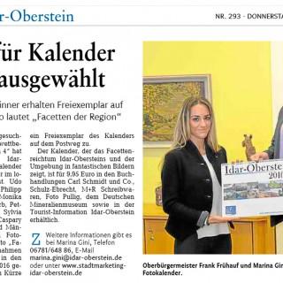 Kalender 2016 der Stadt Idar-Oberstein – Facetten der Region